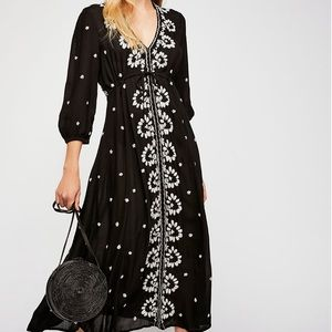 Free People Embroidered Fable Maxi Dress